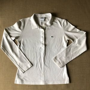 Lacoste long sleeve pique polo. Size 40